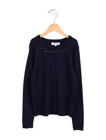 Milly Minis Girls' Embellished Sweater w/ Tags None