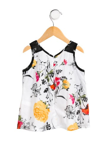Girls' Sleeveless Floral Print Top w/ Tags