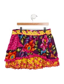 Catimini Girls' Floral Layered Skirt