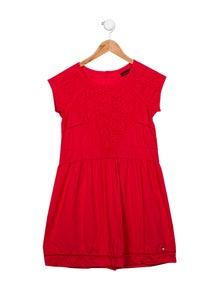 Catimini Girls' Eyelet Short Sleeve Dress