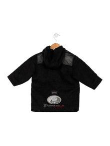 Catimini Boys' Hooded Wool-Blend Coat