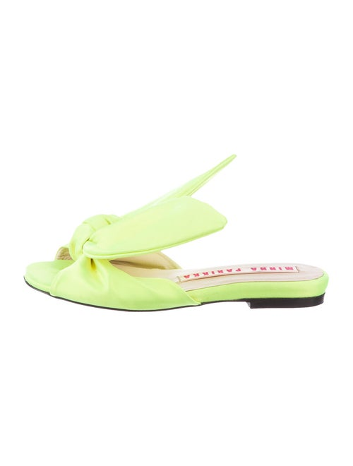 Minna Parikka Bow Accents Slides Green