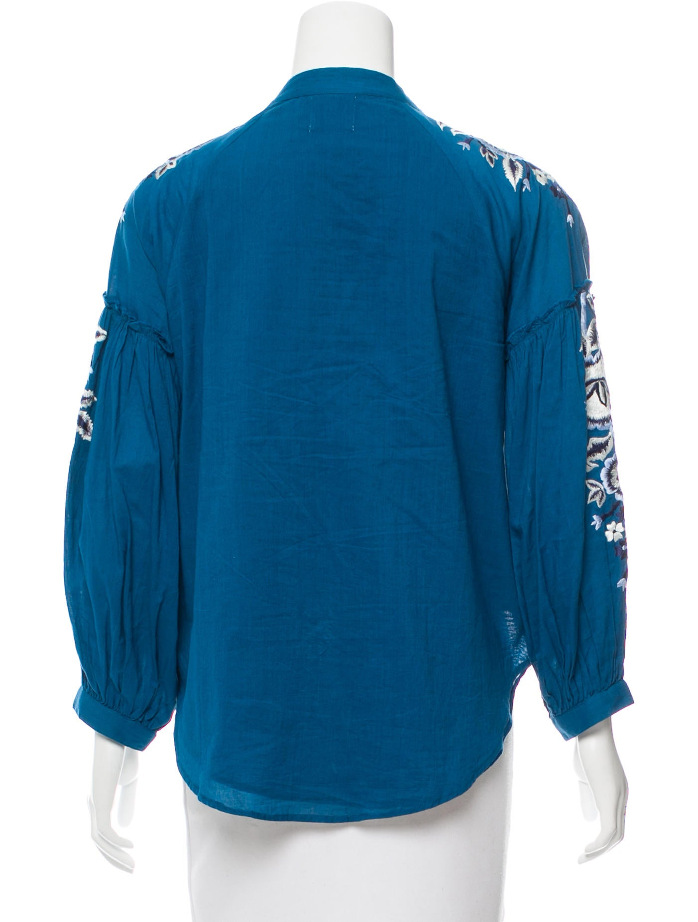 Misa los angeles embroidered long sleeve top clothing