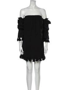 MISA Los Angeles Off-The-Shoulder Mini Dress