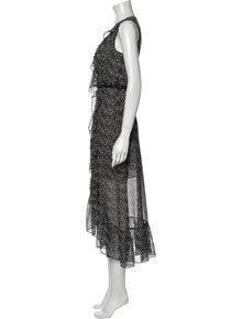 MISA Los Angeles Printed Long Dress