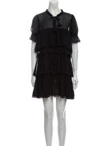 MISA Los Angeles Mock Neck Mini Dress