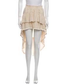 MISA Los Angeles Ruffle Embellishment Midi Length Skirt