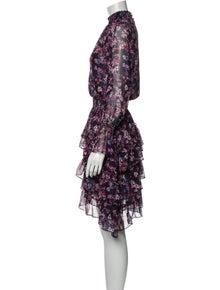 MISA Los Angeles Floral Print Knee-Length Dress