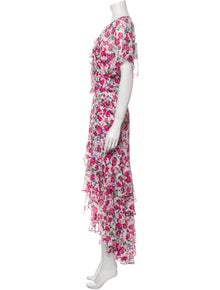 MISA Los Angeles Floral Print Long Dress