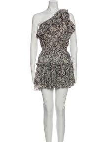 MISA Los Angeles Floral Print Mini Dress