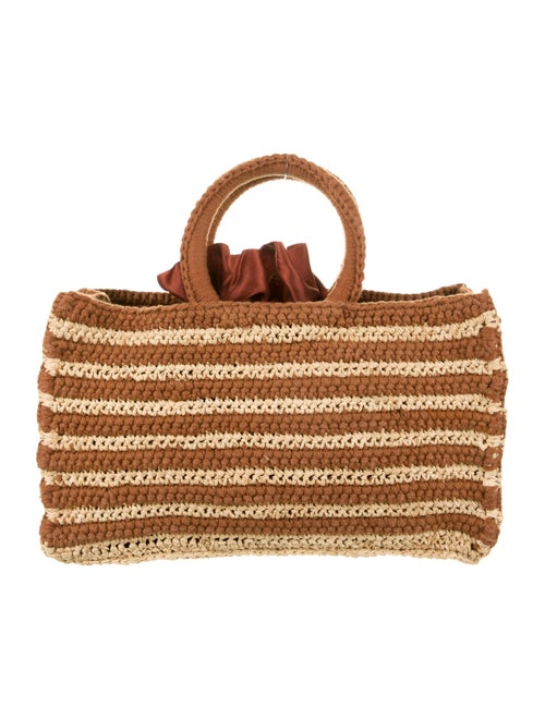 Mizele Woven Straw Shoulder Bag Brown