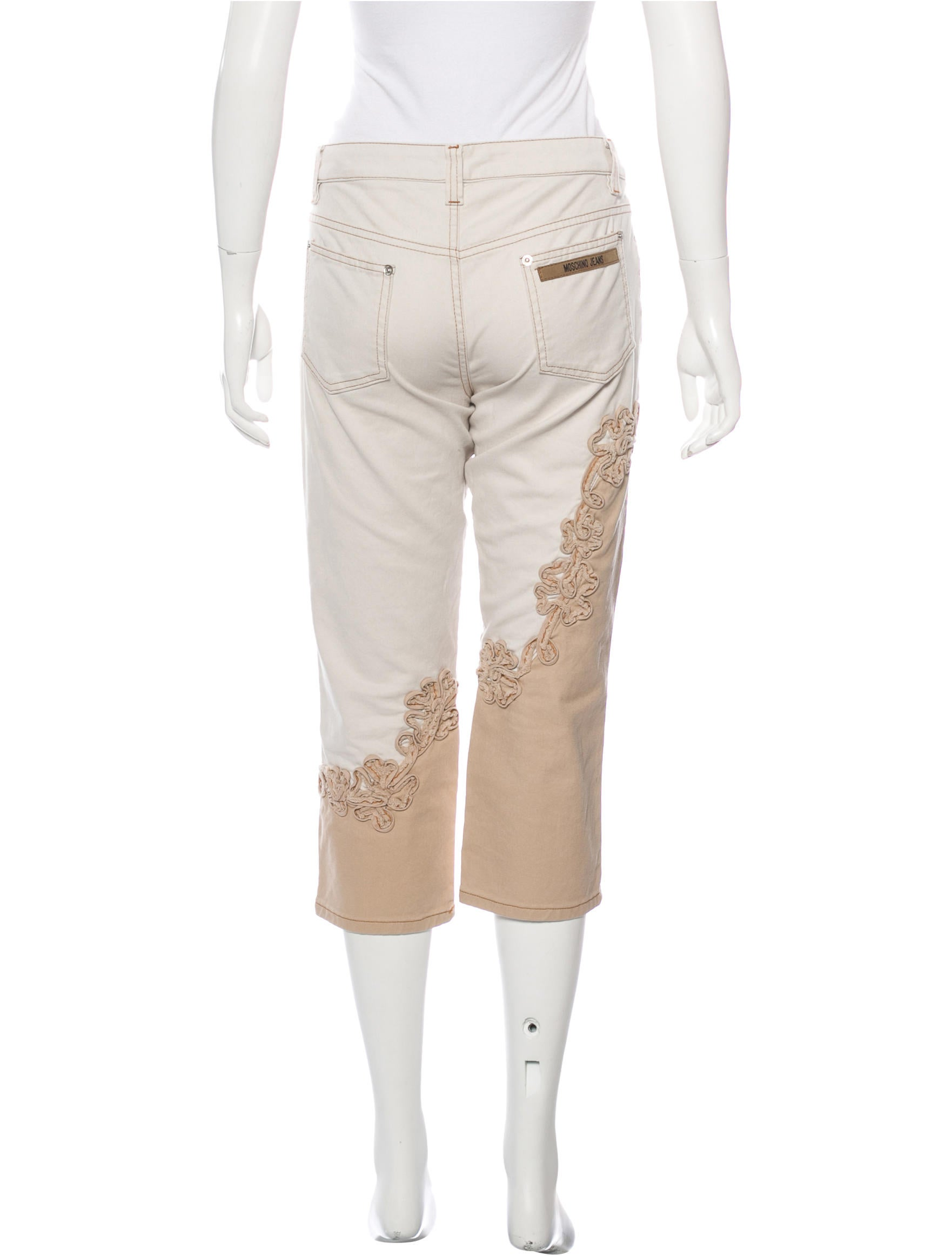 Moschino jeans embroidered cropped clothing