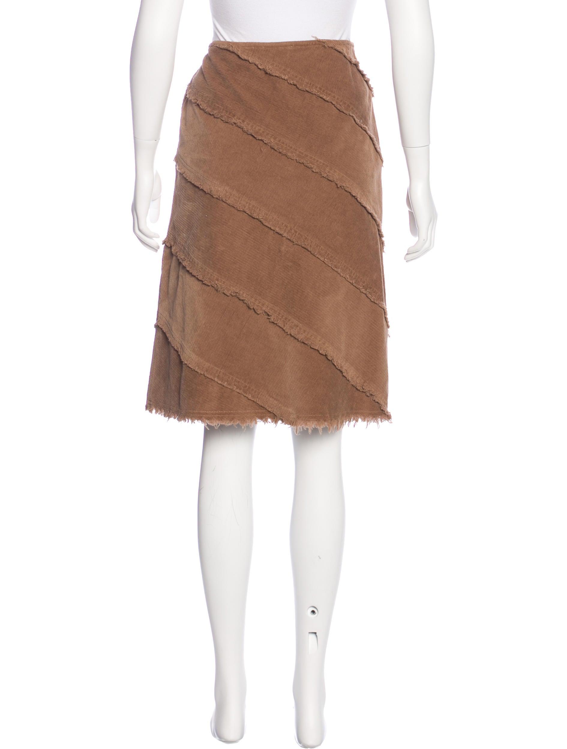 moschino corduroy knee length skirt clothing