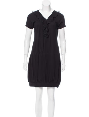 Moschino Jeans Knit Short Sleeve Shift Dress None