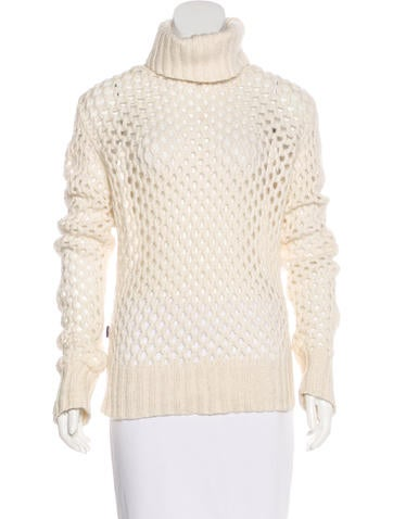 Moschino Jeans Open-Knit Wool-Blend Sweater None