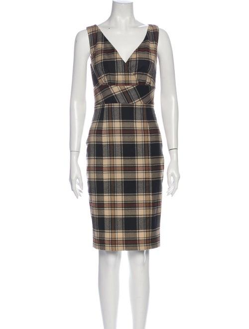 Moschino Jeans Wool Knee-Length Dress Wool
