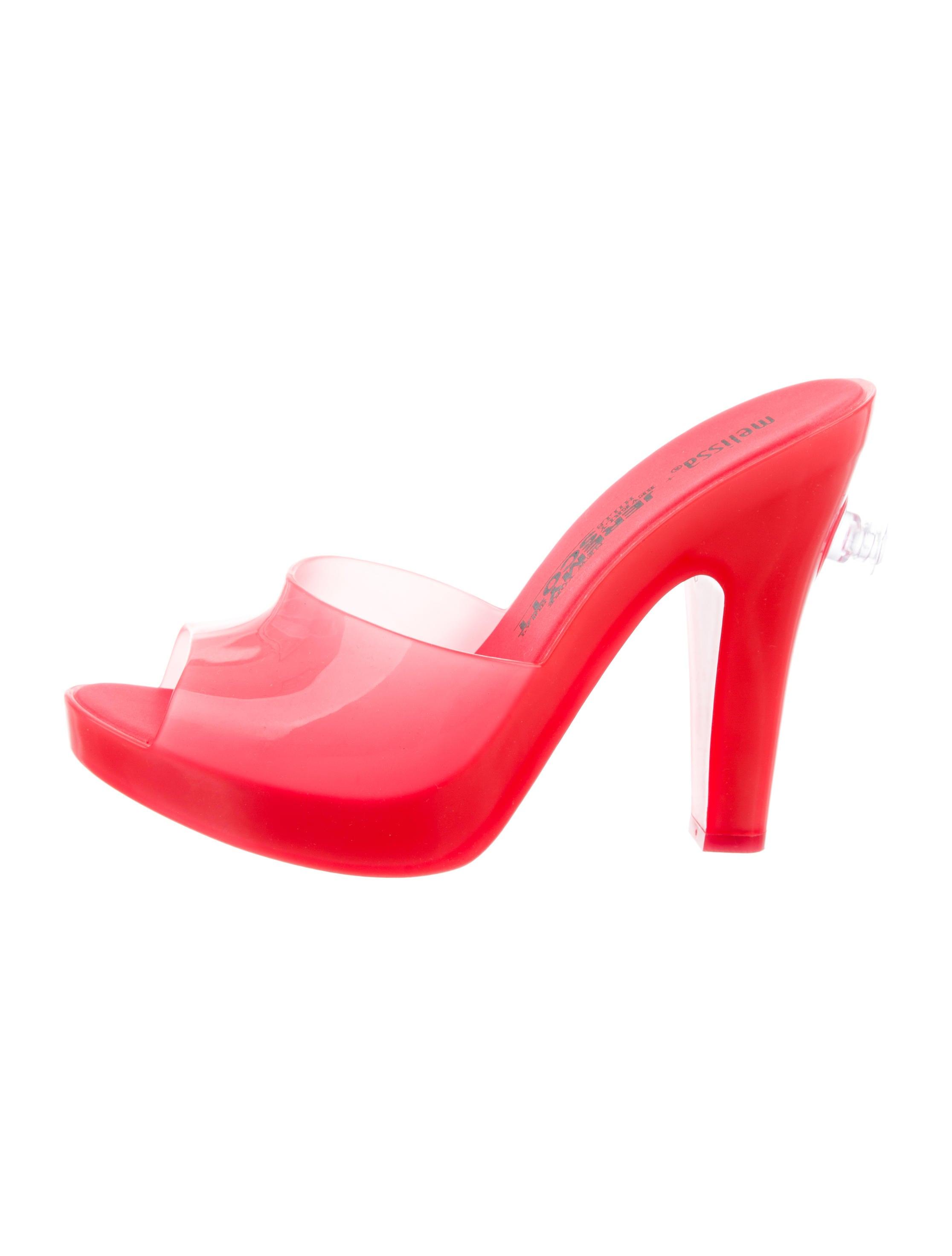 Melissa x Jeremy Scott Peep-Toe Platform Mules top quality sale online plVCW