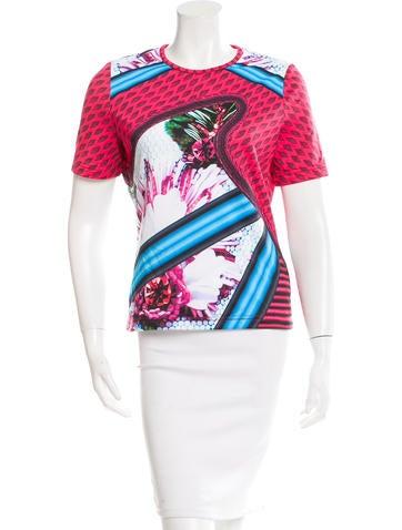 Mary Katrantzou x Adidas Printed Neoprene T-Shirt