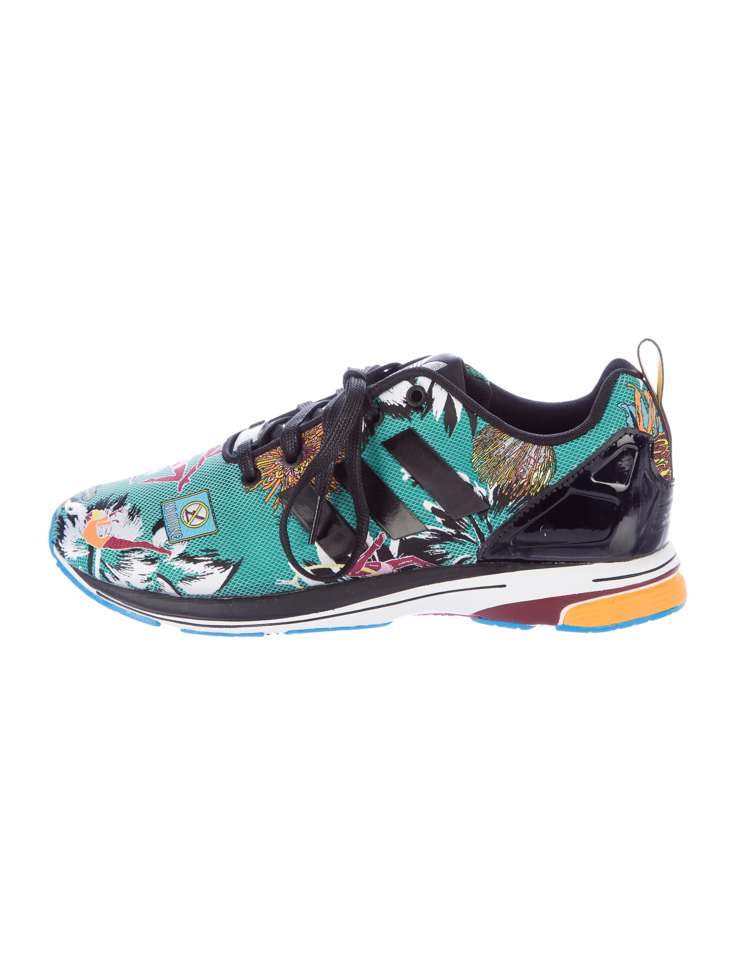 low priced f6ce0 ea495 Mary Katrantzou x Adidas MK ZX Flux Tech Sneakers w Tags