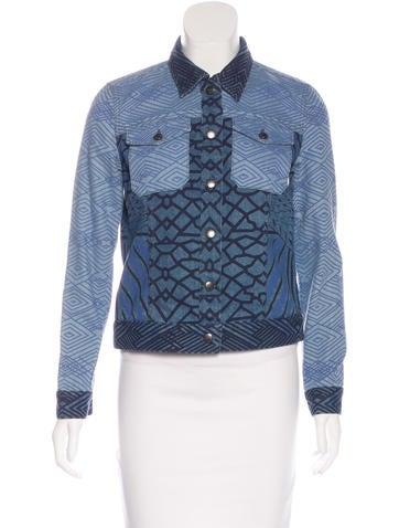 Mary Katrantzou x Current/Elliott Patterned Denim Jacket