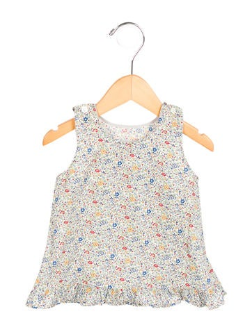 Makie Girls' Floral Print Sleeveless Top None