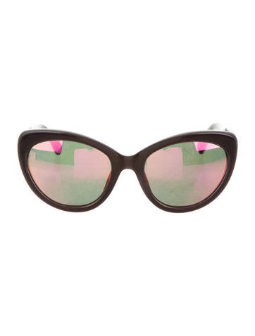 Markus Lupfer x Linda Farrow Mirrored Cat-Eye Sunglasses