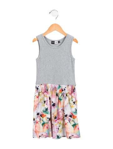 Molo Girls' Parrot A-Line Dress None