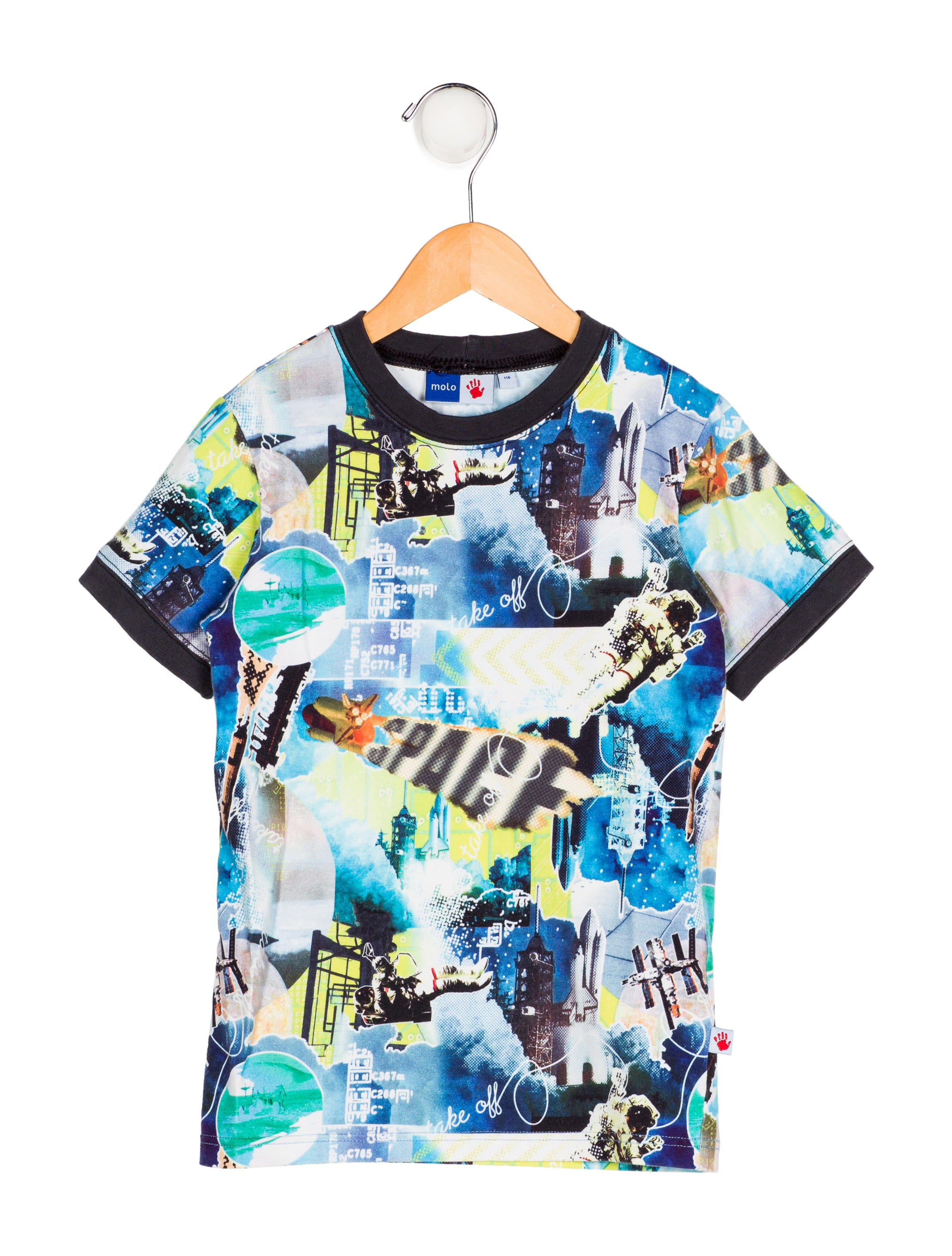 b82ecf818 Molo Boys' Printed Knit Shirt - Boys - WMLLO20080 | The RealReal
