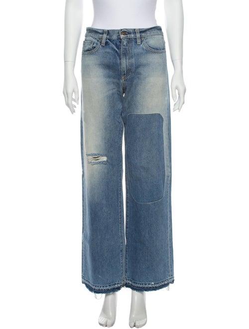 Simon Miller Mid-Rise Wide Leg Jeans Blue