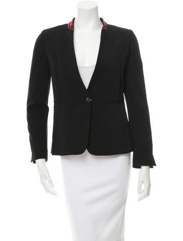 MM6 by Maison Martin Margiela Sequined Collared Single-Closure Blazer w/ Tags None