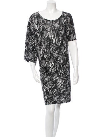 MM6 by Maison Martin Margiela Printed Jersey Dress None