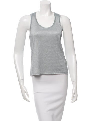 MM6 by Maison Martin Margiela Metallic Sleeveless Top w/ Tags None