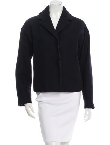 MM6 by Maison Martin Margiela Lightweight Wool-Blend Jacket None