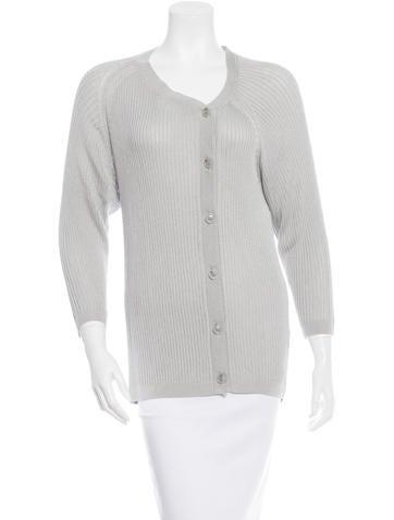 MM6 by Maison Martin Margiela Long Sleeve Rib Knit Cardigan None
