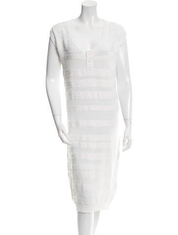 MM6 by Maison Martin Margiela V-Neck Sweater Dress None
