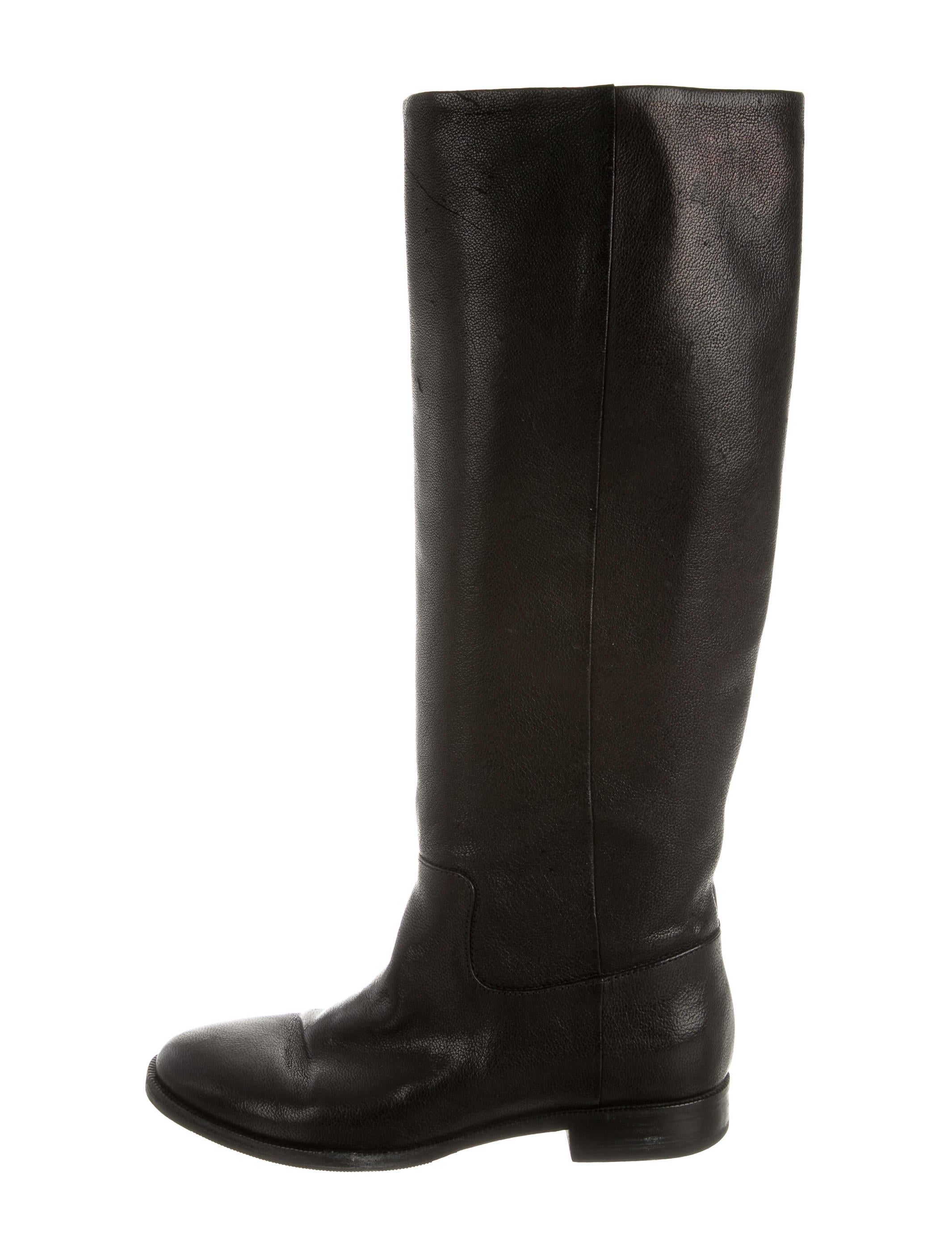 mm6 by maison martin margiela leather knee high boots