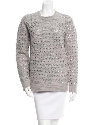 MM6 by Maison Martin Margiela Mélange Laser Cut Sweater None
