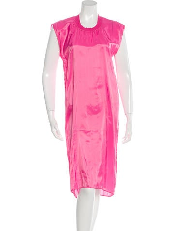 MM6 by Maison Martin Margiela Satin Midi Dress None