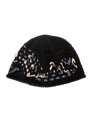 MM6 by Maison Martin Margiela Leather-Trimmed Knit Beanie