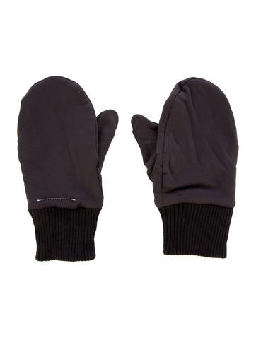 MM6 by Maison Martin Margiela Nylon Rib Knit Mittens None