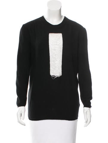 MM6 by Maison Martin Margiela Wool Long Sleeve Sweater None