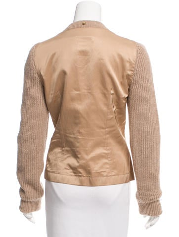 Alpaca Satin-Paneled Jacket