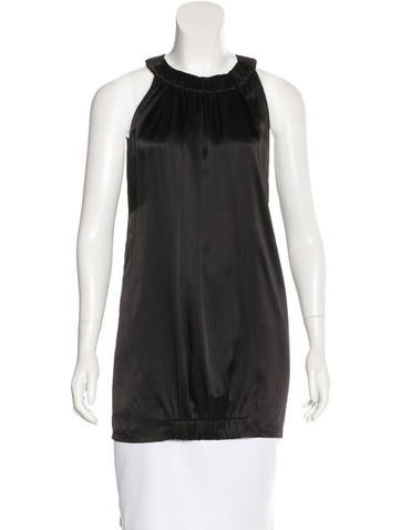 MM6 by Maison Martin Margiela Silk Sleeveless Top None