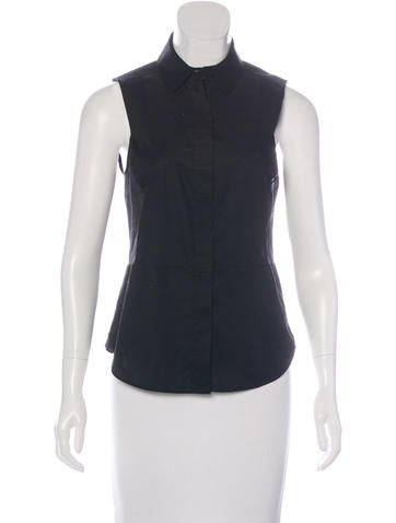 MM6 by Maison Martin Margiela Sleeveless Button-Up Top None