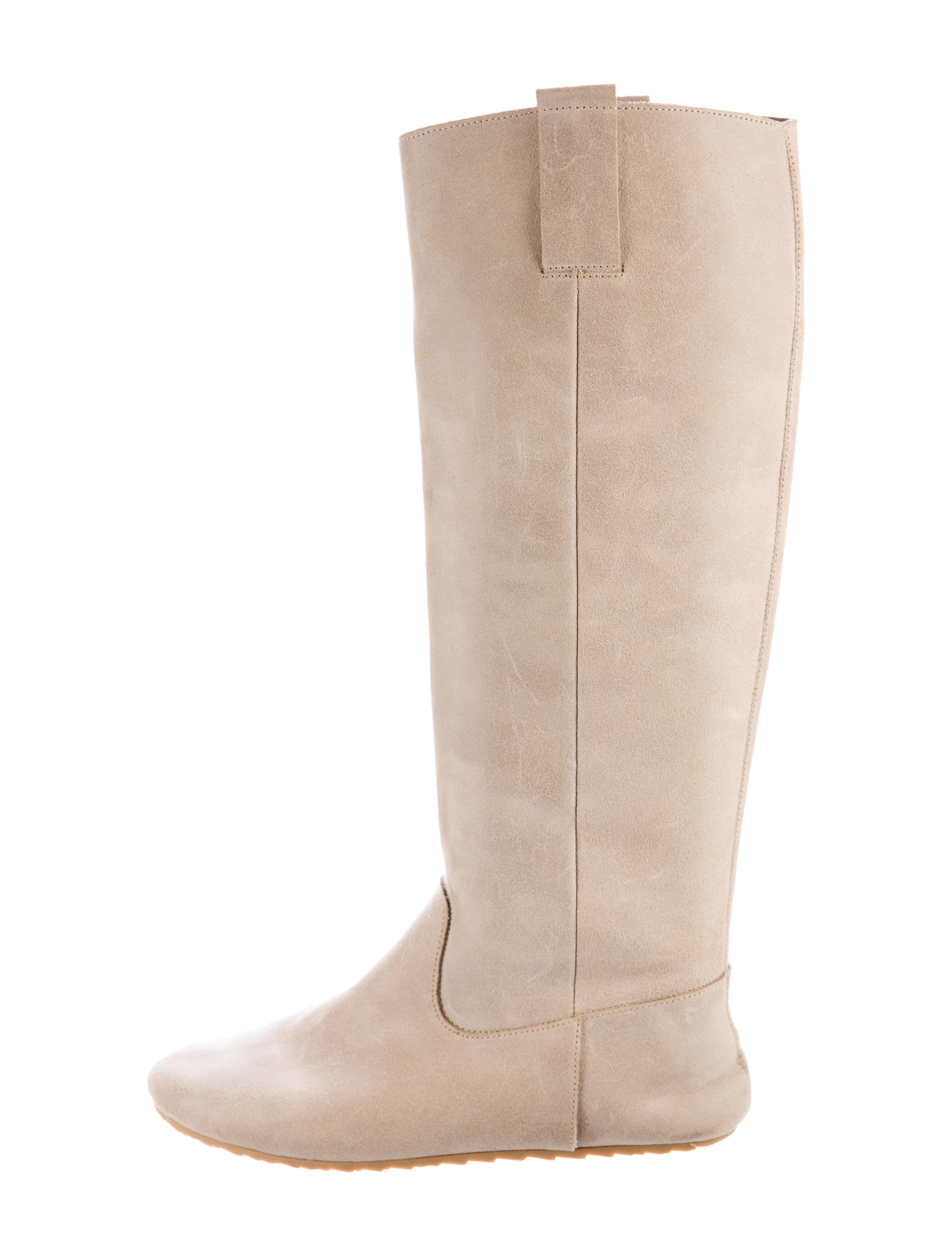 mm6 by maison martin margiela suede knee high boots