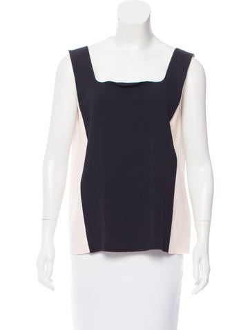 MM6 by Maison Martin Margiela Two-Tone Sleeveless Top None