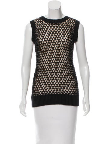 MM6 by Maison Martin Margiela Sleeveless Knit Top None