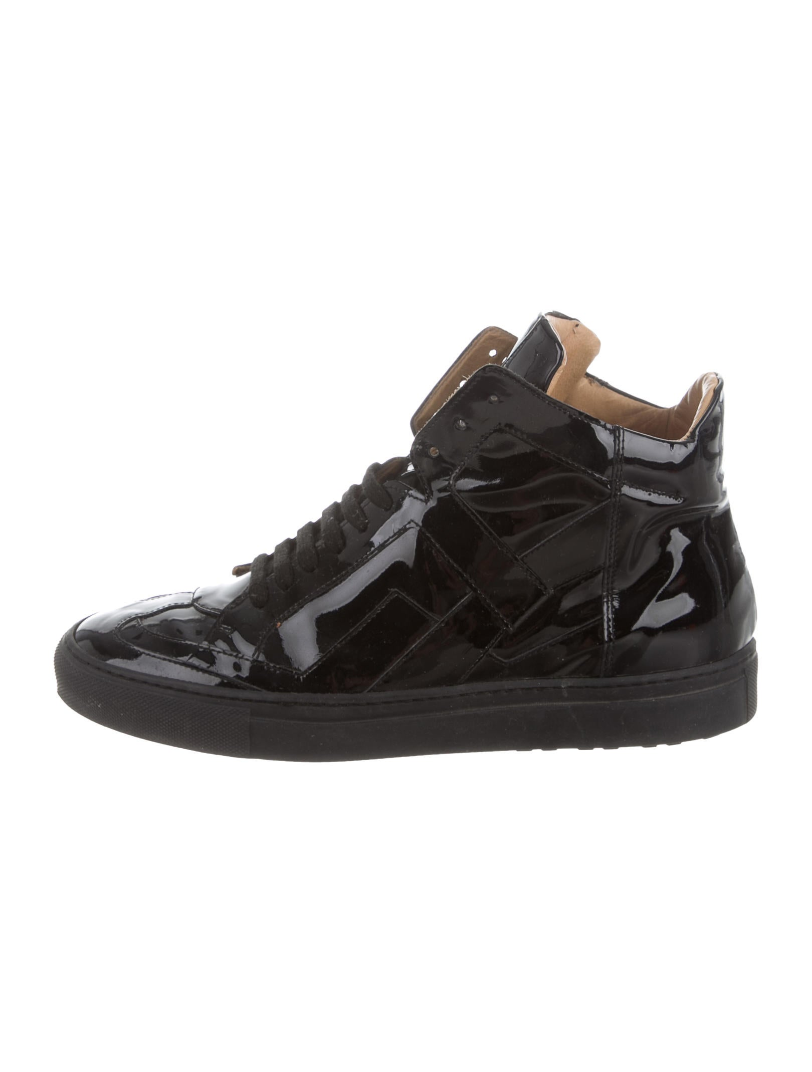 Mm6 by maison martin margiela patent leather high top for Mm6 maison margiela