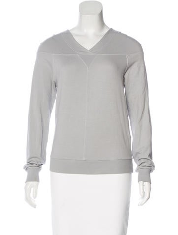 MM6 by Maison Martin Margiela Hooded Long Sleeve Top None