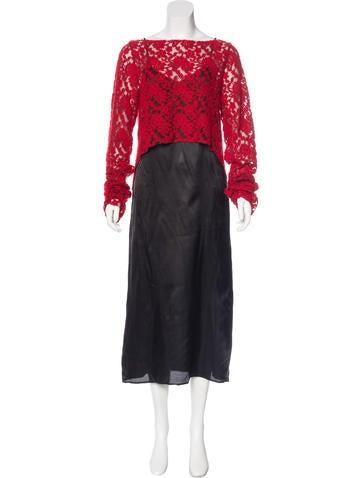 MM6 by Maison Martin Margiela Long Sleeve Maxi Dress Set None
